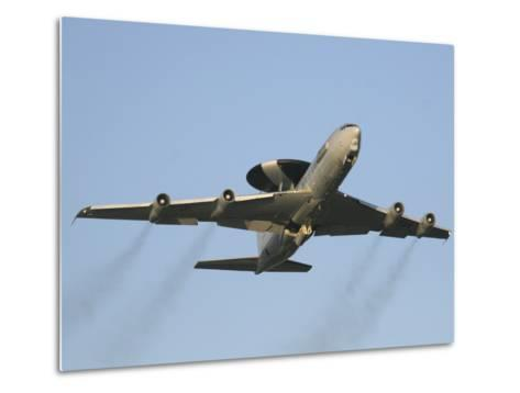 An E-3 Sentry Taking Off from the NATO AWACS Base, Germany-Stocktrek Images-Metal Print