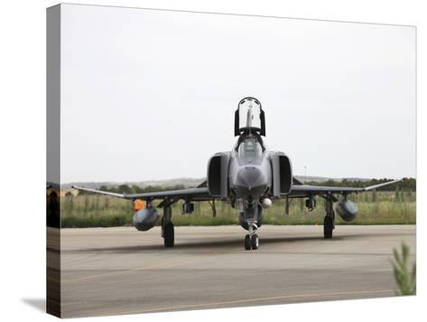 Front View of a Turkish Air Force F-4E Phantom-Stocktrek Images-Stretched Canvas Print