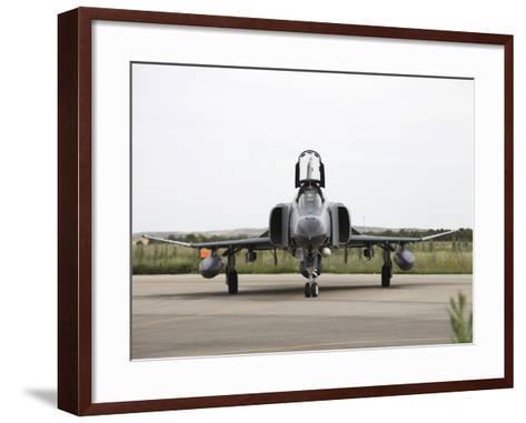 Front View of a Turkish Air Force F-4E Phantom-Stocktrek Images-Framed Art Print