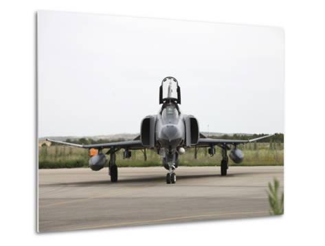 Front View of a Turkish Air Force F-4E Phantom-Stocktrek Images-Metal Print