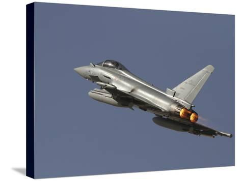 A Eurofighter Typhoon of the Italian Air Force Taking Off-Stocktrek Images-Stretched Canvas Print