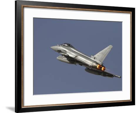 A Eurofighter Typhoon of the Italian Air Force Taking Off-Stocktrek Images-Framed Art Print