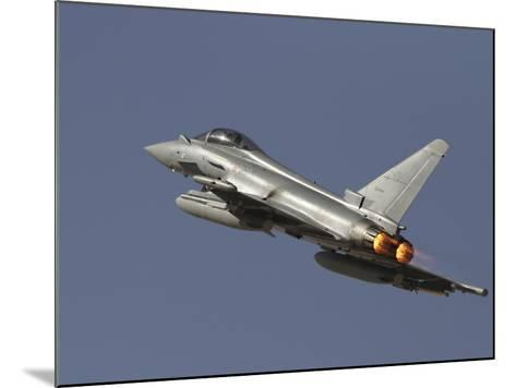 A Eurofighter Typhoon of the Italian Air Force Taking Off-Stocktrek Images-Mounted Photographic Print