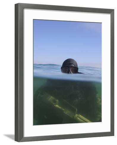 A U.S. Navy SEAL Combat Swimmer-Stocktrek Images-Framed Art Print