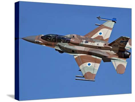 An F-16I Sufa of the Israeli Air Force in Flight Over Israel-Stocktrek Images-Stretched Canvas Print