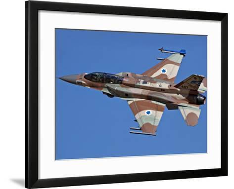 An F-16I Sufa of the Israeli Air Force in Flight Over Israel-Stocktrek Images-Framed Art Print