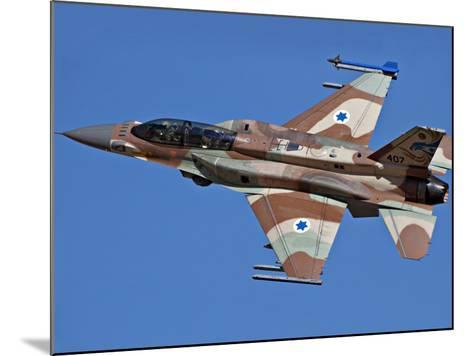 An F-16I Sufa of the Israeli Air Force in Flight Over Israel-Stocktrek Images-Mounted Photographic Print