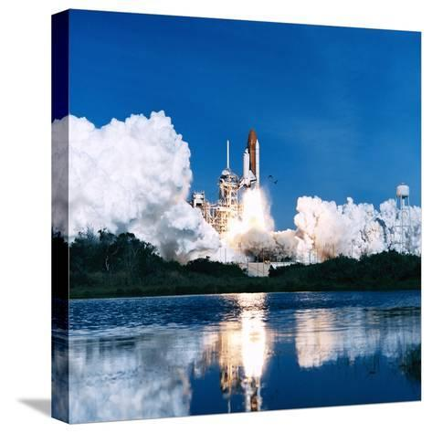 Space Shuttle Launch-Stocktrek Images-Stretched Canvas Print