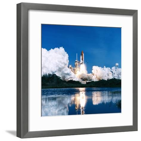 Space Shuttle Launch-Stocktrek Images-Framed Art Print