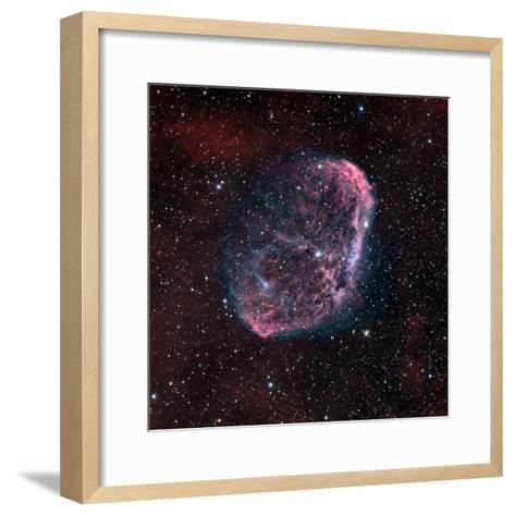 The Crescent Nebula-Stocktrek Images-Framed Art Print