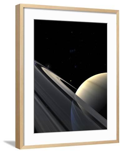 Rings of Saturn-Stocktrek Images-Framed Art Print