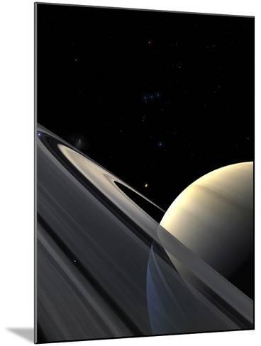 Rings of Saturn-Stocktrek Images-Mounted Photographic Print