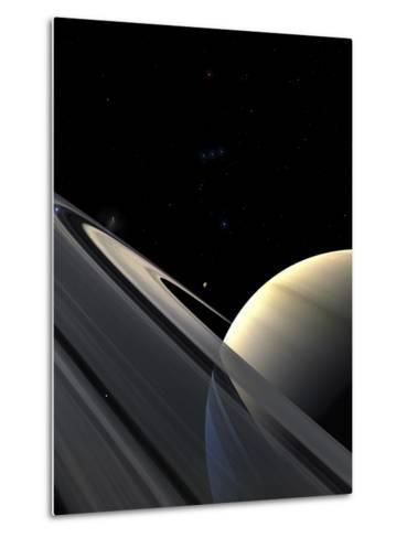 Rings of Saturn-Stocktrek Images-Metal Print