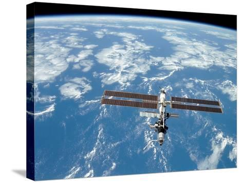International Space Station-Stocktrek Images-Stretched Canvas Print