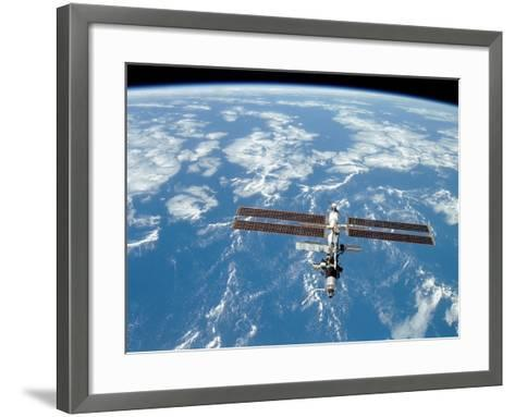 International Space Station-Stocktrek Images-Framed Art Print