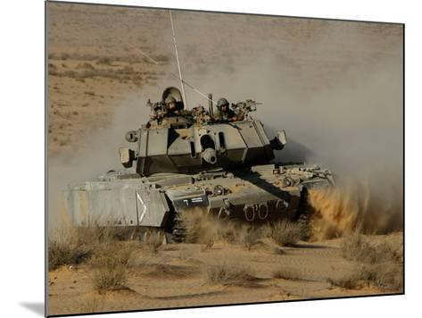 An Israel Defense Force Magach 7 Main Battle Tank in the Negev Desert-Stocktrek Images-Mounted Photographic Print