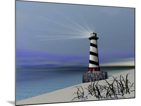 A Lighthouse Sends Out a Light To Warn Vessels-Stocktrek Images-Mounted Photographic Print