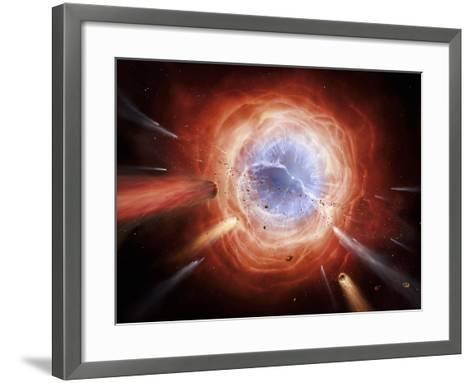 A Planetary Nebula Is Forming As the Star Expells Its Outer Layers-Stocktrek Images-Framed Art Print