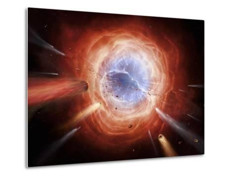 A Planetary Nebula Is Forming As the Star Expells Its Outer Layers-Stocktrek Images-Metal Print