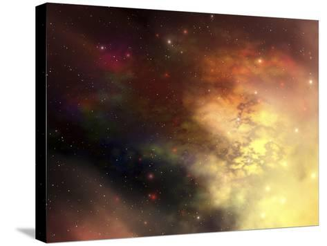 A Beautiful Nebula Out in the Cosmos with Many Stars And Clouds-Stocktrek Images-Stretched Canvas Print