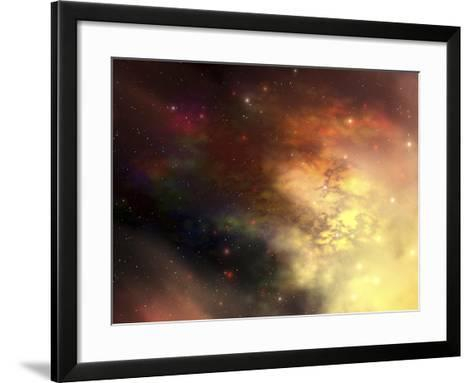 A Beautiful Nebula Out in the Cosmos with Many Stars And Clouds-Stocktrek Images-Framed Art Print
