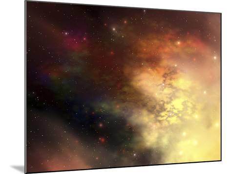 A Beautiful Nebula Out in the Cosmos with Many Stars And Clouds-Stocktrek Images-Mounted Photographic Print