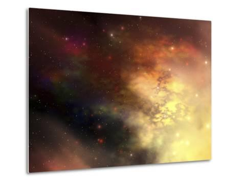A Beautiful Nebula Out in the Cosmos with Many Stars And Clouds-Stocktrek Images-Metal Print