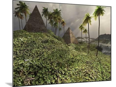 Two Pyramids Sit Majestically Among the Surrounding Jungle-Stocktrek Images-Mounted Photographic Print
