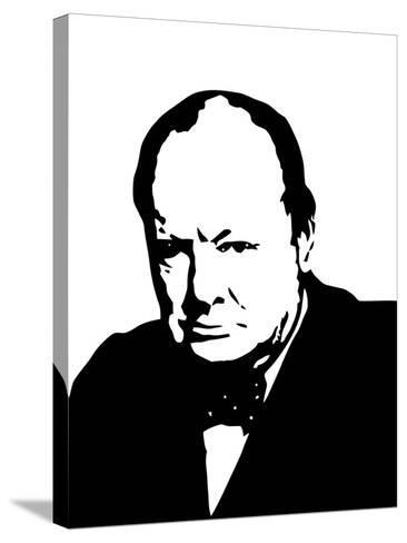 Vector Illustration of Sir Winston Churchill-Stocktrek Images-Stretched Canvas Print