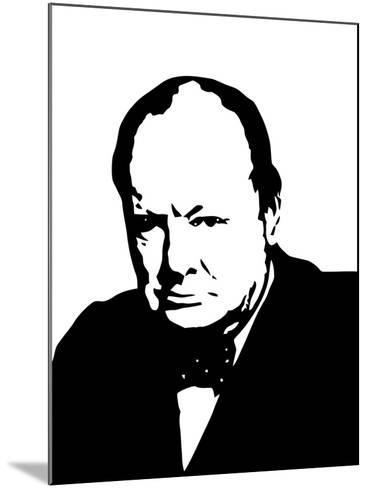 Vector Illustration of Sir Winston Churchill-Stocktrek Images-Mounted Photographic Print
