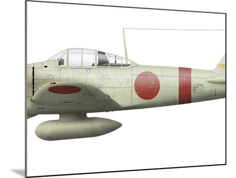Illustration of a Mitsubishi A6M2 Zero Fighter Plane-Stocktrek Images-Mounted Photographic Print