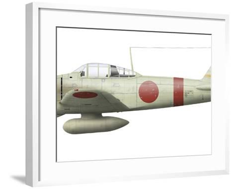 Illustration of a Mitsubishi A6M2 Zero Fighter Plane-Stocktrek Images-Framed Art Print