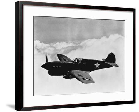 Vintage World War II Photo of a P-40 Fighter Plane-Stocktrek Images-Framed Art Print
