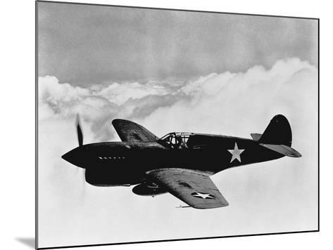 Vintage World War II Photo of a P-40 Fighter Plane-Stocktrek Images-Mounted Photographic Print