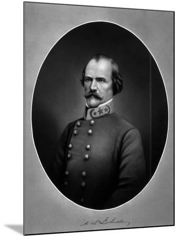Vintage American Civil War Print of Confederate General Albert Sidney Johnston-Stocktrek Images-Mounted Photographic Print