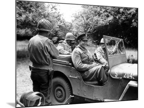 Vintage World War II Photo of General Dwight D. Eisenhower Sitting in a Jeep-Stocktrek Images-Mounted Photographic Print