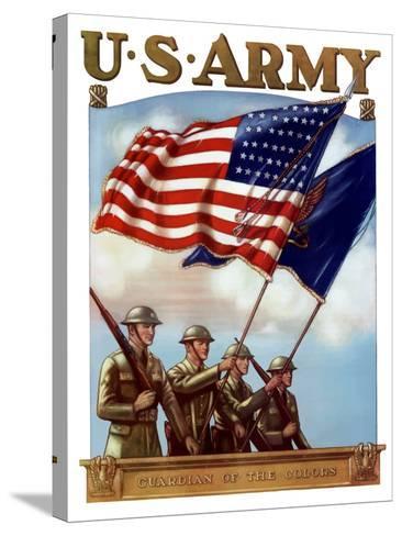 Digitally Restored War Propaganda Poster-Stocktrek Images-Stretched Canvas Print
