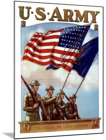 Digitally Restored War Propaganda Poster-Stocktrek Images-Mounted Photographic Print