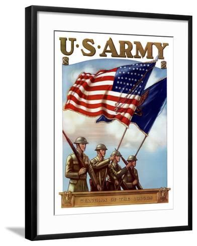 Digitally Restored War Propaganda Poster-Stocktrek Images-Framed Art Print