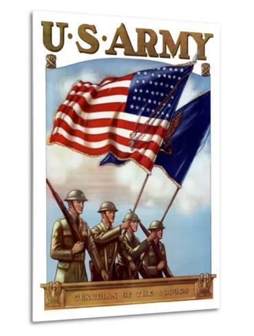 Digitally Restored War Propaganda Poster-Stocktrek Images-Metal Print