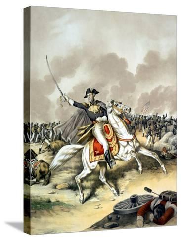 Vintage American History Print of General Andrew Jackson On Horseback-Stocktrek Images-Stretched Canvas Print