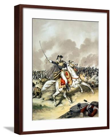 Vintage American History Print of General Andrew Jackson On Horseback-Stocktrek Images-Framed Art Print