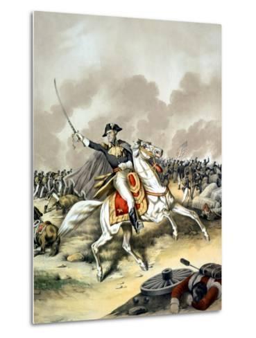 Vintage American History Print of General Andrew Jackson On Horseback-Stocktrek Images-Metal Print