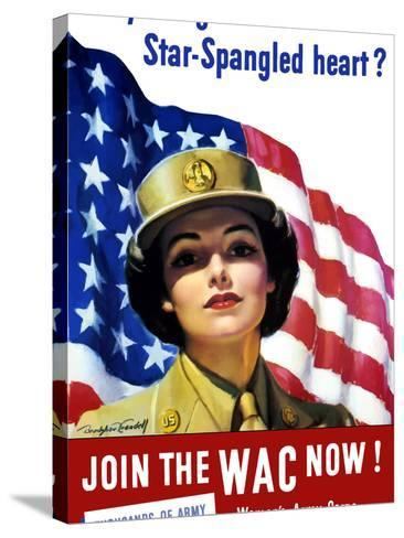 Vintage World War II Poster of a Member of the Women's Army Corps-Stocktrek Images-Stretched Canvas Print