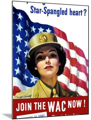 Vintage World War II Poster of a Member of the Women's Army Corps-Stocktrek Images-Mounted Photographic Print
