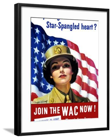 Vintage World War II Poster of a Member of the Women's Army Corps-Stocktrek Images-Framed Art Print