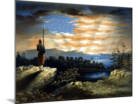 Vintage Civil War Painting of a Lone Zouave Sentry Overlooking a Cliff-Stocktrek Images-Mounted Photographic Print