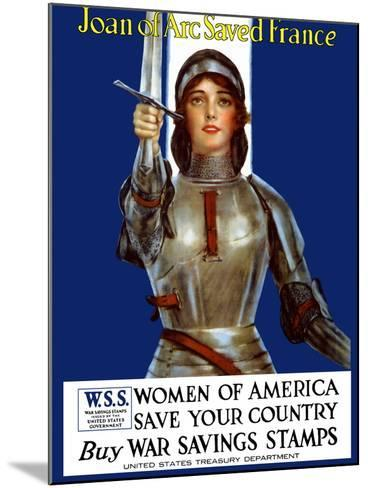 Vintage World War One Poster of Joan of Arc Wearing Armor, Raising a Sword-Stocktrek Images-Mounted Photographic Print