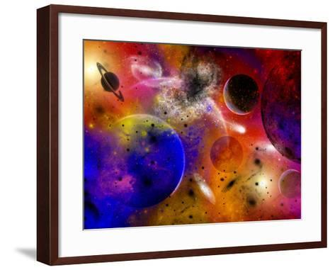 Dimensional Universes Meet, And Portals To Them Open-Stocktrek Images-Framed Art Print