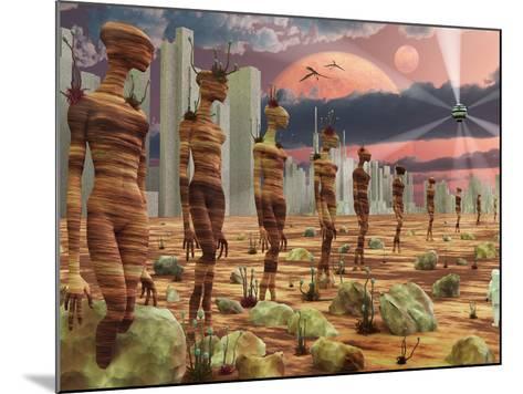 Astronaut Exploring the Remains of An Ancient Alien Civilization-Stocktrek Images-Mounted Photographic Print